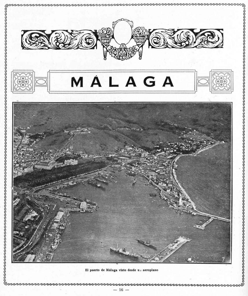 Vista aérea del puerto de Málaga