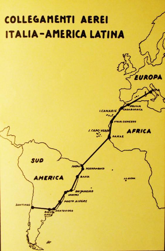 La red de Ala Littoria en 1938