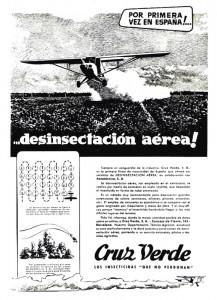 Por primera vez en España… desinsectación aérea!