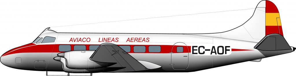de Havilland Heron – Aviaco, 1958
