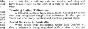Bombing Indian Tribesmen