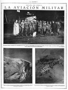 Visita del general Marzo al Aeródromo de Tetuán