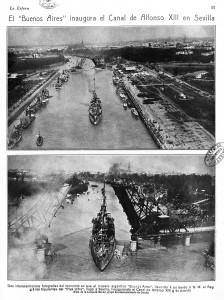 Inauguración del Canal de Alfonso XIII en Sevilla