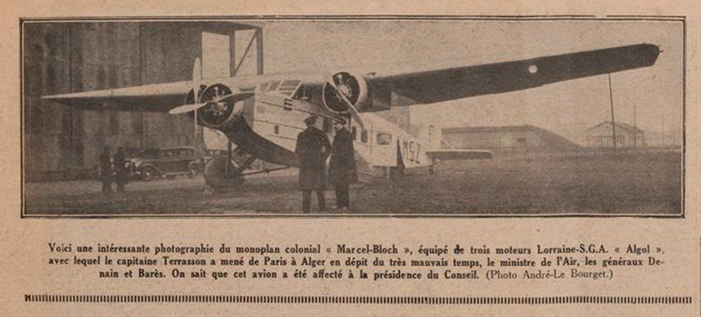 Trimotor colonial Marcel Bloch
