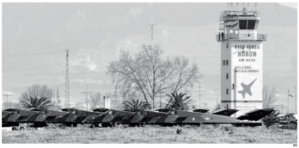 Visita invisible de aviones furtivos a Sevilla