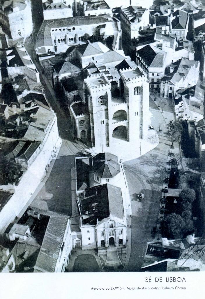 Aerofoto de la catedral de Lisboa