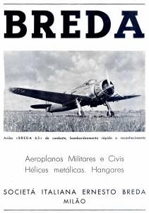 Breda, aeroplanos militares y civiles