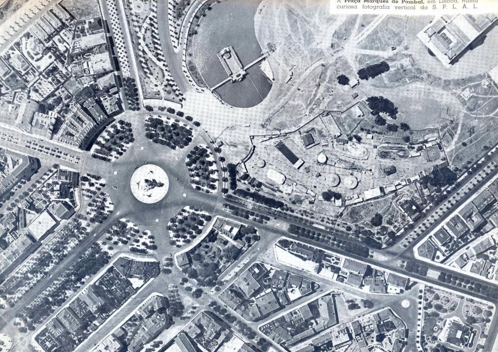Fotografía vertical de la plaza del marqués de Pombal, Lisboa