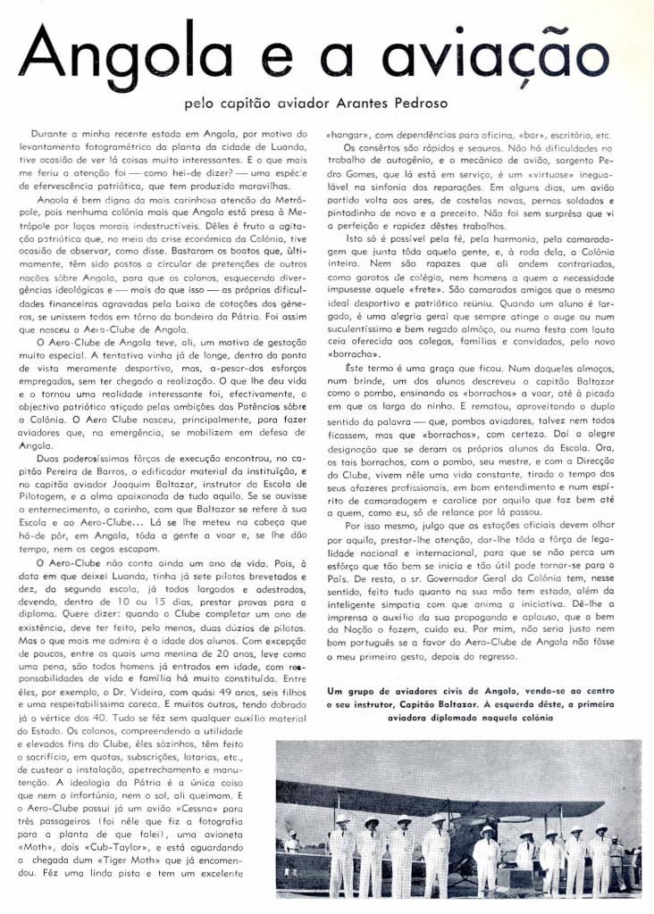 Angola y la aviación