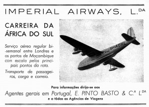 Imperial Airways – Ruta de África del Sur