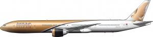 Boeing 777-300 ER de Gulf Air, 2009