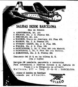 """""""Gane el jubileo en Santiago volando con Aviaco"""""""