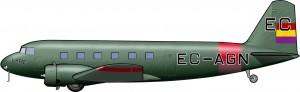 Douglas DC-1 de LAPE: ejemplar único