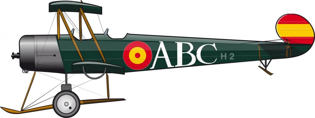 Un Avro 504 para el diario ABC
