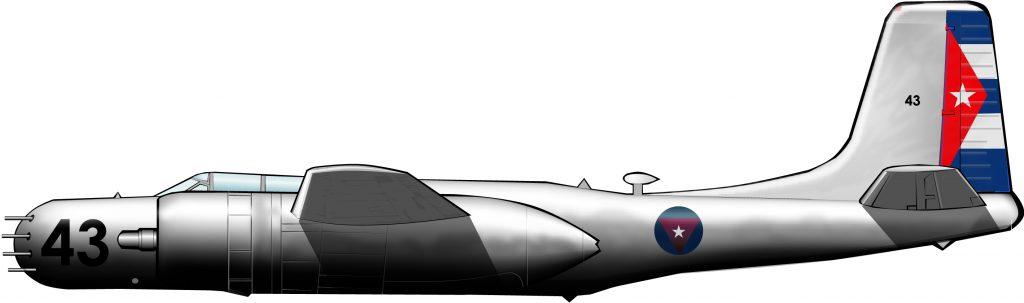 Aviones camuflados en la Bahía de Cochinos