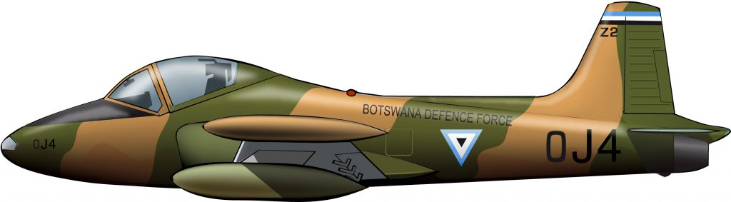 Strikemasters para Botswana