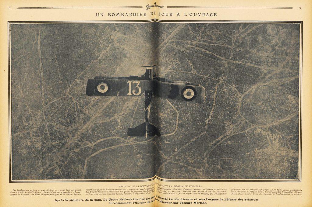 Un Breguet 14 sobre el frente, en Vouziers