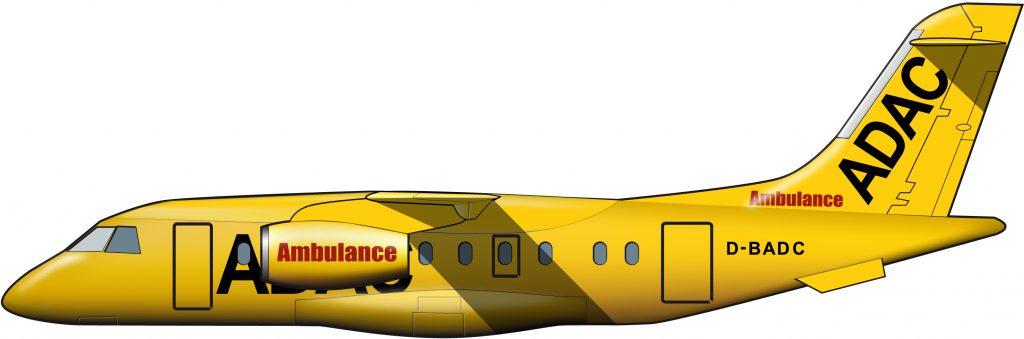La ambulancia aérea alemana