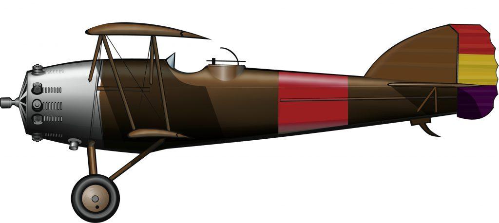 Aviones de Estonia para la república de Euzkadi