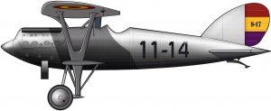 Un avión de caza entre la monarquía y la República