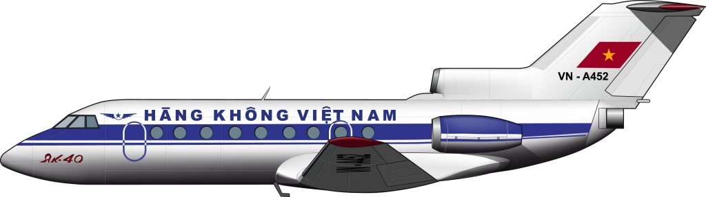 Un Yak-40 de Aerolíneas de Vietnam