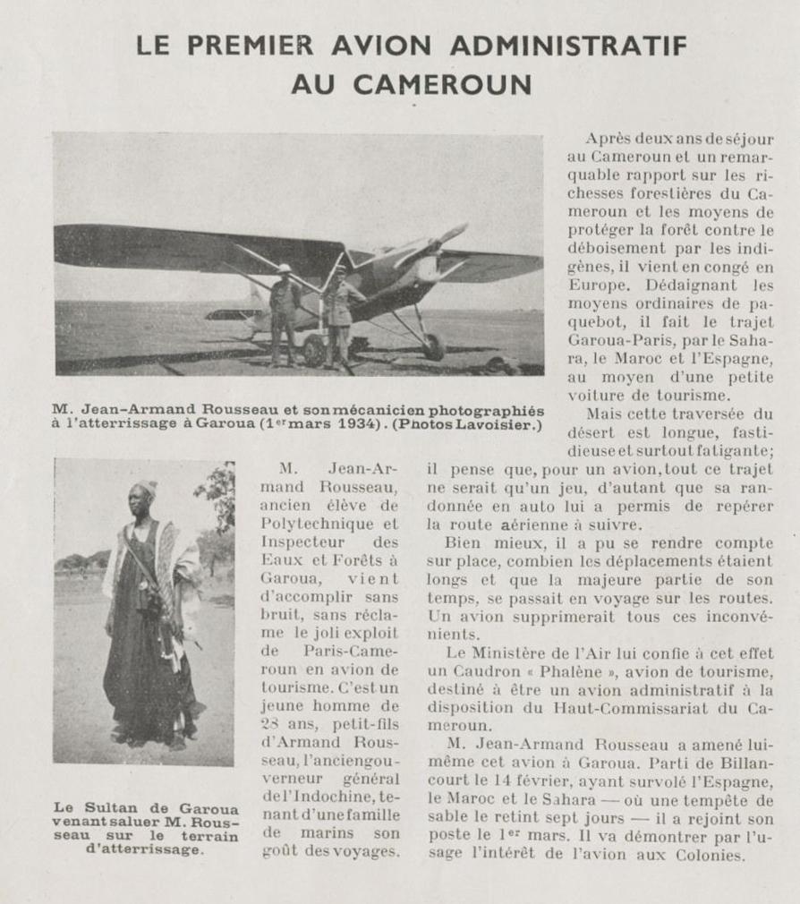 Caudron Phalène au Cameroun