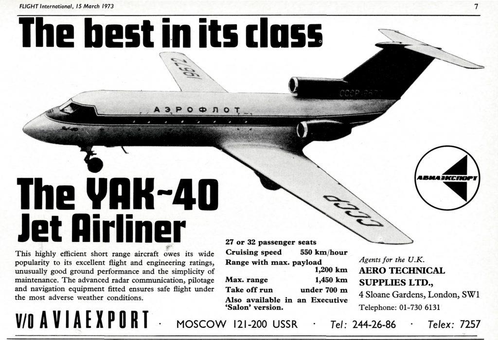 El mejor de su tipo: el avión de línea jet Yak-40