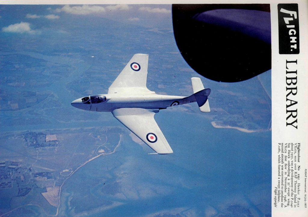 Hawker Sea Hawk modificado, 1950