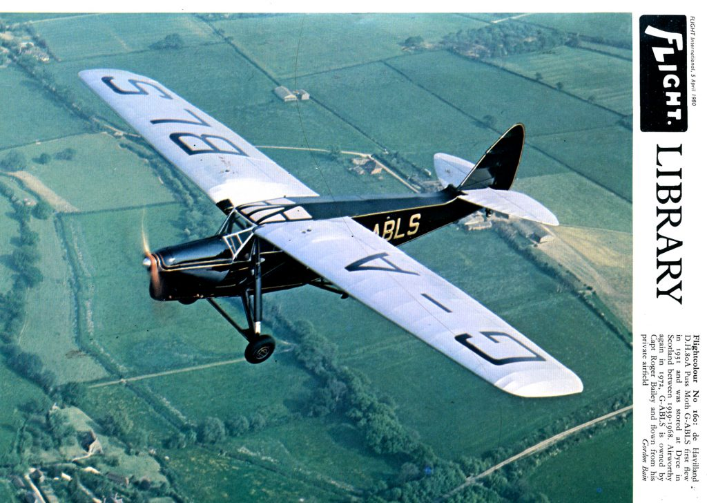 de Havilland Puss Moth, 1931