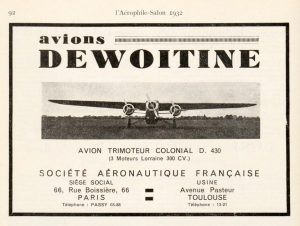 Trimotor colonial Dewoitine D.430