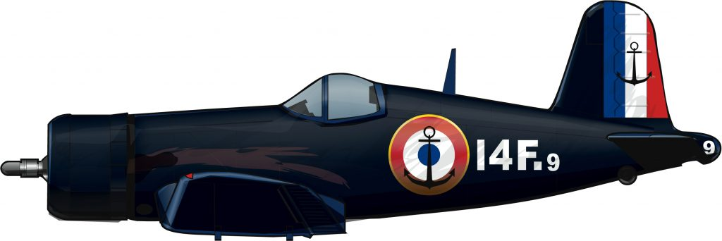 Vought Corsair, Argelia, 1958