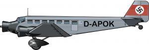 El primer Ju-52 de la guerra civil