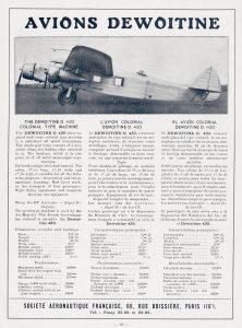 El avión colonial Dewoitine D.430