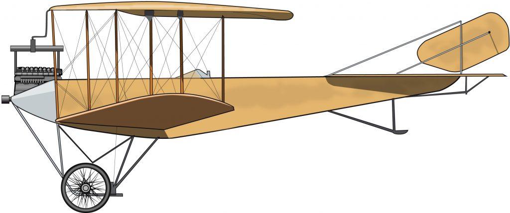 El primer y casi último avión colonial alemán