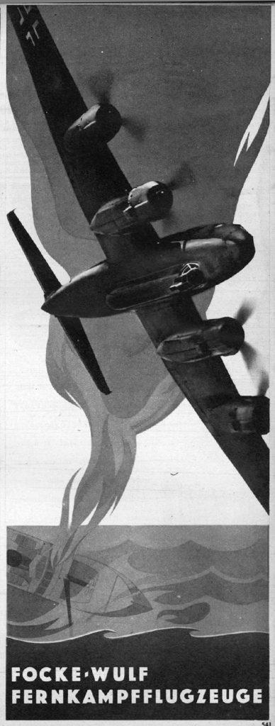 Nazi Aircraft Ads: Focke Wulf Fw 200 Condor