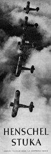 Nazi Aircraft Ads: Henschel Hs 123 Stuka