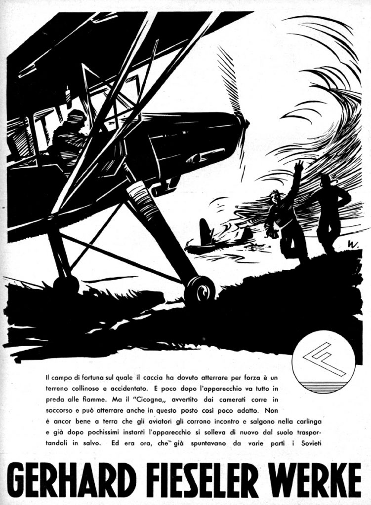 Nazi Aircraft Ads: Fieseler Storch