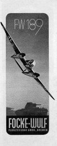 Nazi Aircraft Ads: Focke Wulf Fw 189