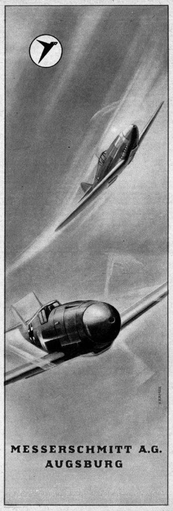 Nazi Aircraft Ads: Messerschmitt Me (Bf) 109