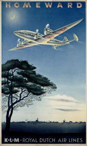 """Un poster de KLM: """"Regreso al hogar"""""""