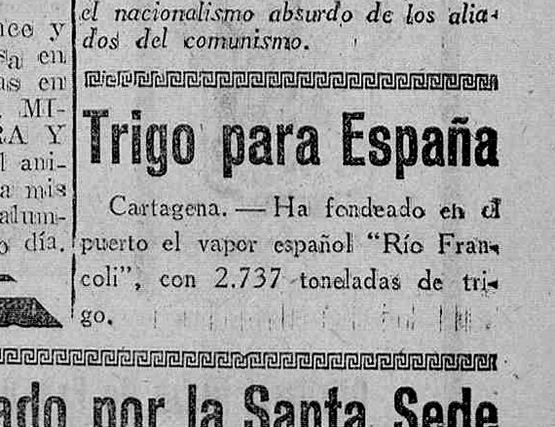 Trigo para España