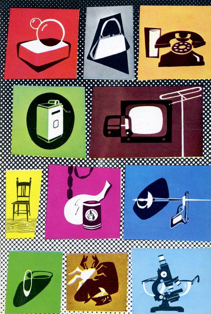 Artículos de consumo, antiguos y modernos