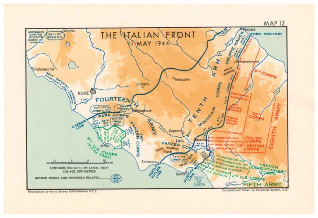 El frente italiano en mayo de 1944