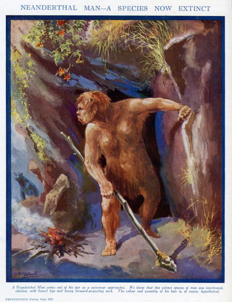 Un hirsuto neandertal