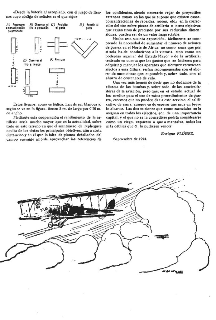 Cooperación de la aviación con la artillería, estilo 1924