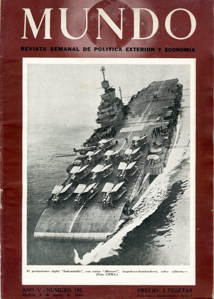 El portaaviones Indomitable y su dotación de Albacores