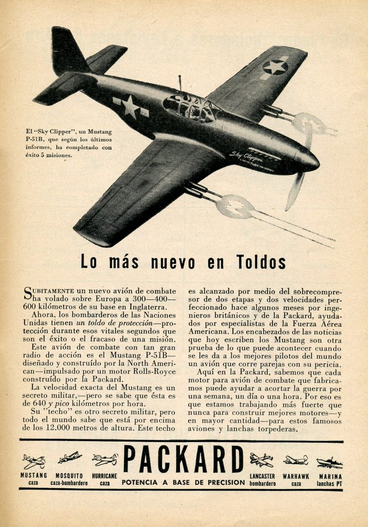 Packard fabrica motores para acortar la guerra