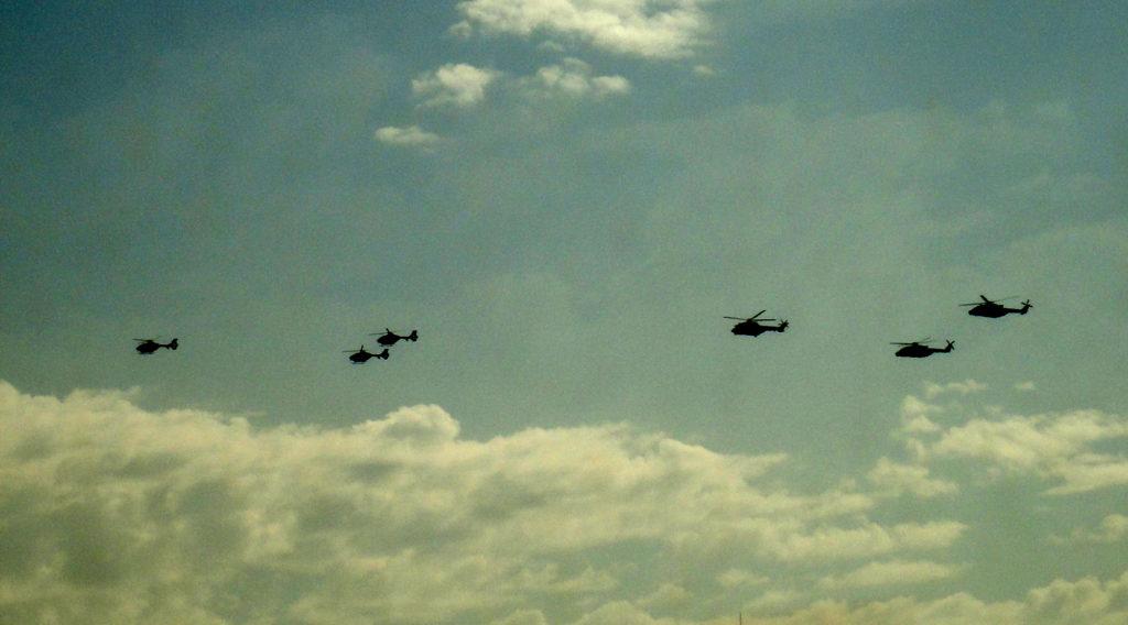 Helicópteros sobre Madrid