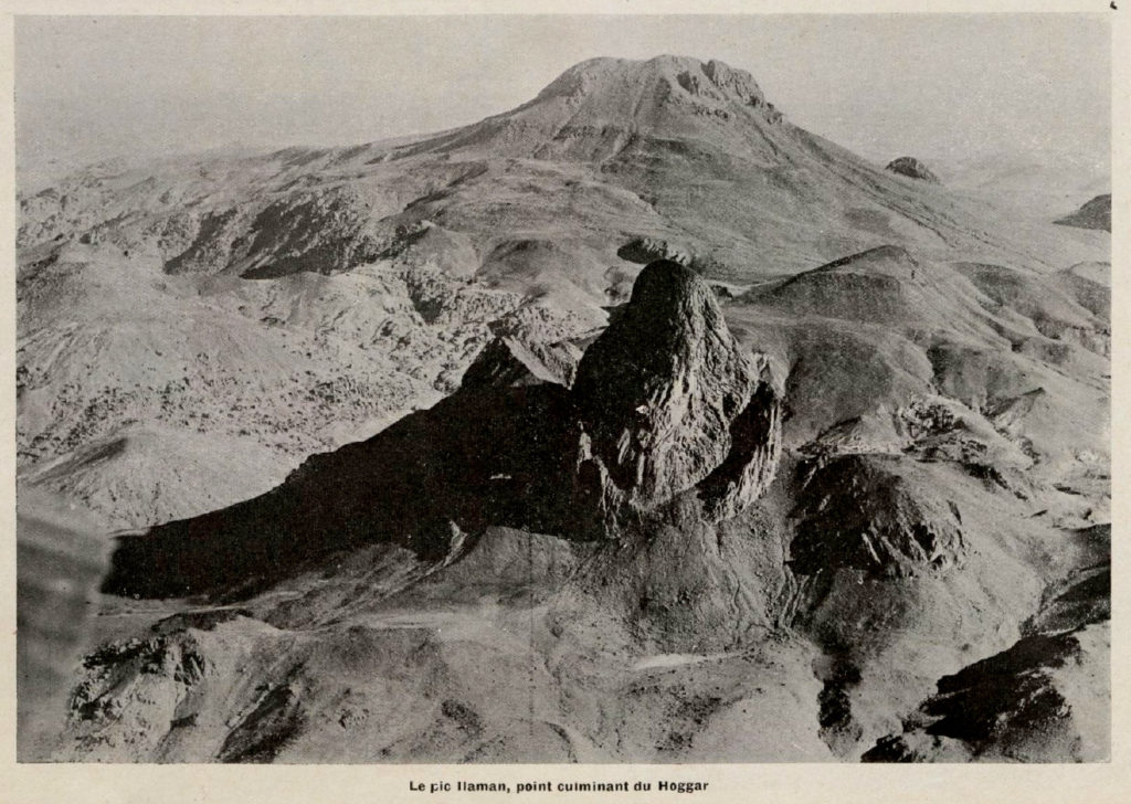 Tres vistas aéreas de Sahara en 1935
