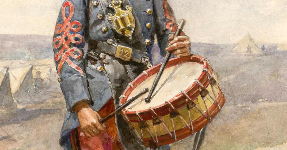 Soldado tocando el tambor